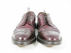 Allen Edmonds Shell Cordovan Macneil Burgundy Wingtips 10.5aa 2a 9187 Euc $695 Dress Shoes Men's Shoes