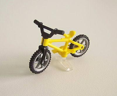 ENFANTS 1545 Vélo Bleu /& Noir avec Support Transparent PLAYMOBIL