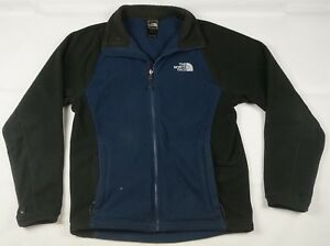 e0398500c Details about Rare VTG THE NORTH FACE Spell Out Color Block Fleece Zip  Jacket 90s Retro TNF S