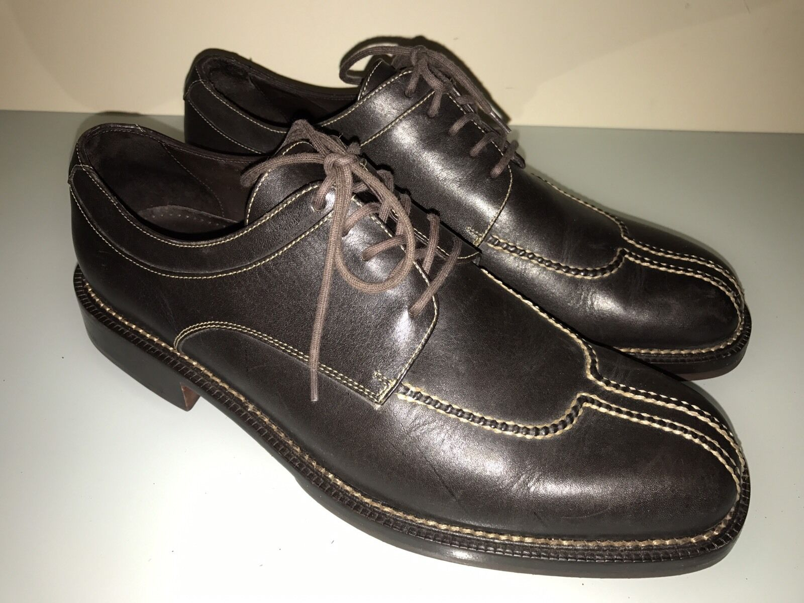 COLE HAAN Country Brazil Brown Leather Split Toe Oxfords Men's U.S.  10.5M