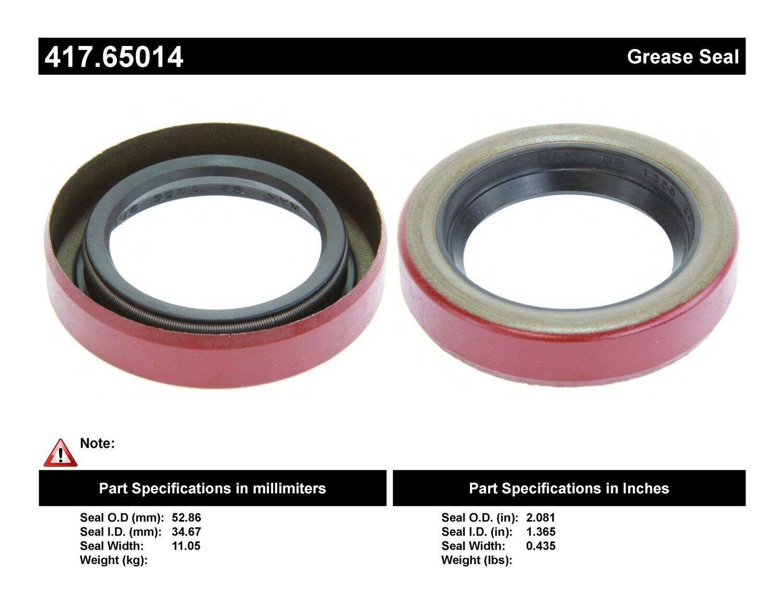 Axle Shaft Seal Rear Centric 417.65014