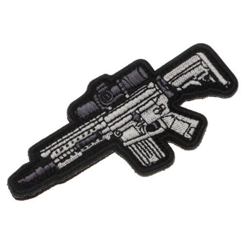 1pc Cool Gun Broderie Patch Sew-Sur Brassard appliqué Badge avec crochet boucle