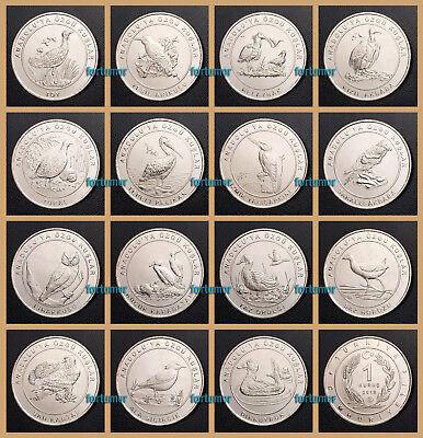 10-25 KURUS TURKEY 2014-2015 COINS ALL UNC 4 PCS SET 1-5