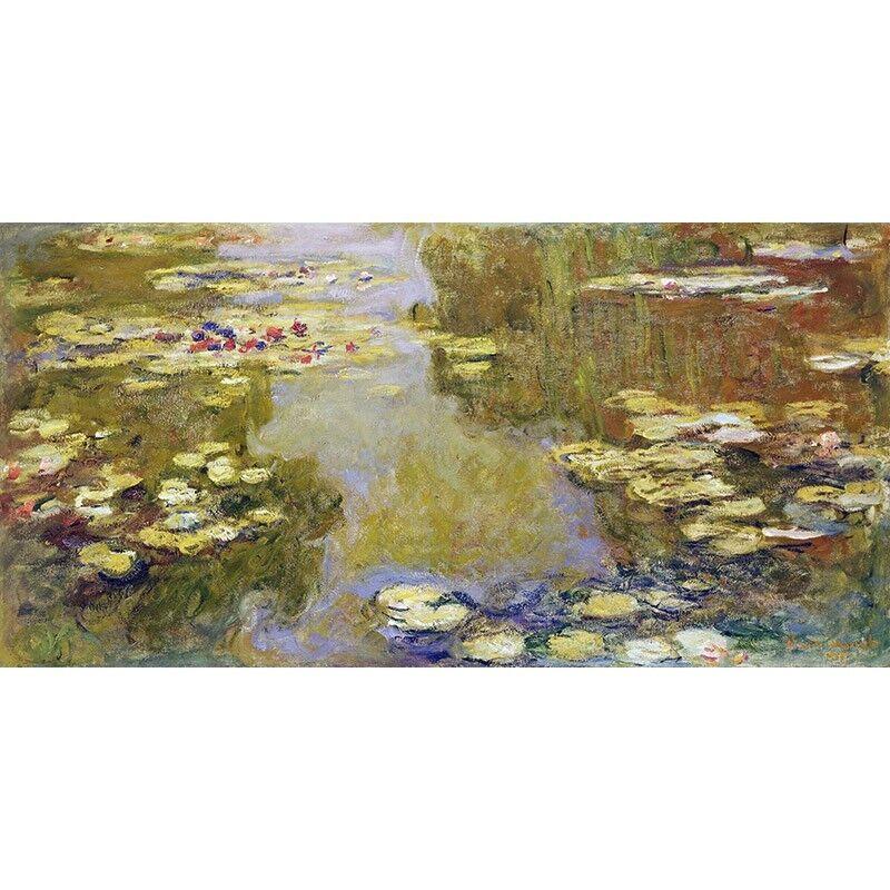 Quadro su Pannello in in in Legno MDF Claude Monet The Lily Pond 072f3d
