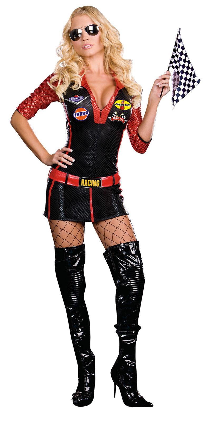 Ride It Adult Women's Costume Microfiber Zip Front Romper Fancy Dress Dream Girl