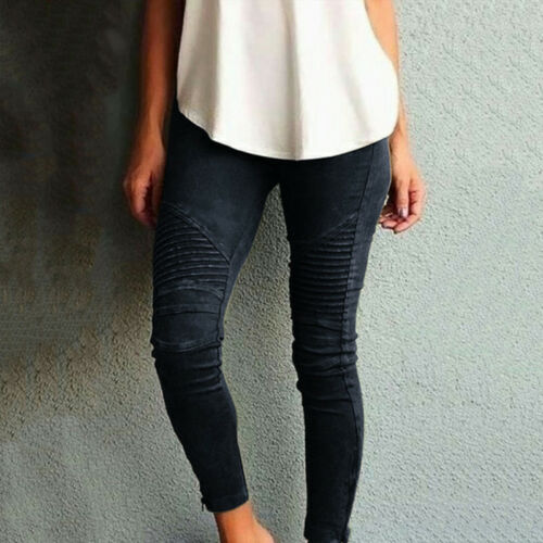 Trousers Skinny Jeggings Denim Womens Size Plus Pants Waist High Pencil Stretch ZC8qg
