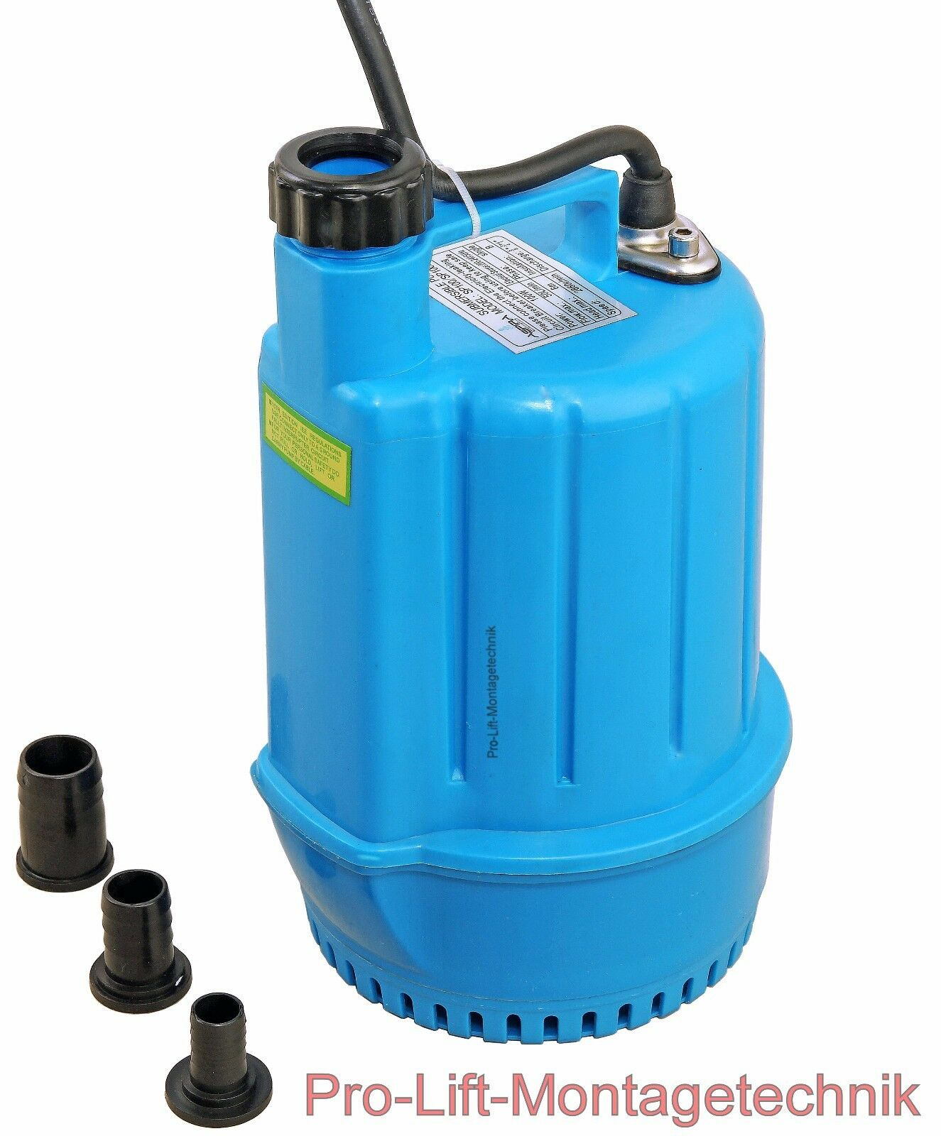 Sumergible 230v 50l min flachsaugerpumpe bomba bomba de presión barril azul sp100j 01959