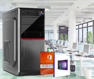 Pc-Bureau-Ordinateur-8GB-DDR4-RAM-250GB-SSD-1TB-HDD-COMPLET-Windows-10-2016