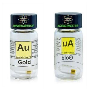 Gold-Metal-99-99-24K-Element-79-Au-Solid-0-1gram-in-Labeled-Glass-Vial