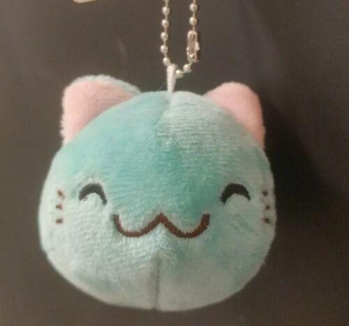 """Shinjidai Neko No Kazoku Keychain Mini Plush 2 to 3/"""" Light Blue."""