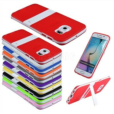 New Slim Soft TPU Gel Silicone Stand Case Cover For Samsung Galaxy Phone