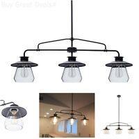 Vintage Look Hanging Light Pendant Fixture 3 Bulb Industrial Look Kitchen Bar