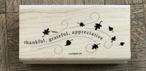 Sweet Fall Sold Individually: Santa Stampin Up Wandering Words wood stamps