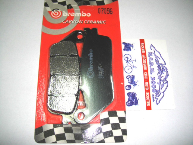 Rear Brake Pads BREMBO Carbon 07096 Kymco Xciting AF1 ABS 500 2006 >