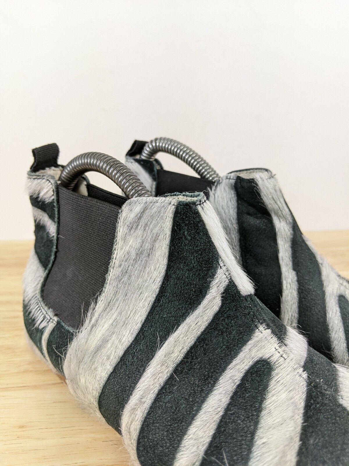 Collection Privee Black Zebra Pony Hair Chelsea B… - image 10
