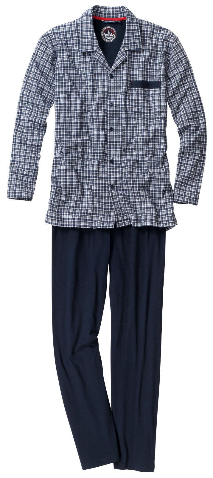 Pyjama -- Schlafanzug lang....durchgeknöpft...Ceceba....Größe 58.. Single Jersey