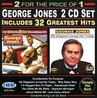 32 Greatest Hits by George Jones (CD, Jul-2013, 2 Discs, Gusto Records)