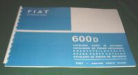 Manuale catalogo parti di ricambio carrozzeria FIAT 600 D-
