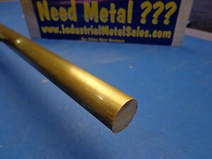 """3/4"""" Diameter x 36""""-Long 360 Brass Round Bar-->.750"""" Dia 360 Brass Rod"""