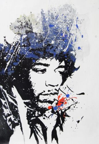also available framed Jimi Hendrix  Oil Painting 30x20in NOT a print or poster