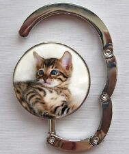 Bengal Cat Design Table Bag Handbag Purse Hanger Hook by paws2print