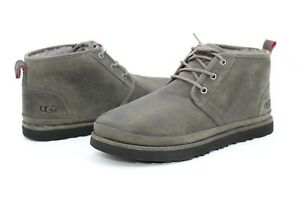 Details zu UGG For Men Boots Neumel Waterproof Leather Wool Charcoal Grey US Size 9 US