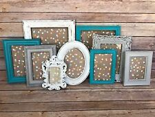 9 Pcs Rustic Picture Frame Set Shabby Chic Cottage Decor Picture Frame Collage