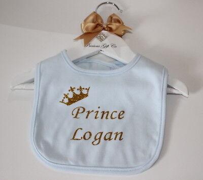 BABY BIB white cotton printed with PRINCE SYMBOL on quality Baby Bib