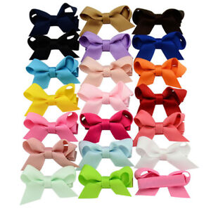 20Pcs-Baby-Girls-Hair-Bows-Boutique-Alligator-Clip-Grosgrain-Ribbon-Hairpins-JE