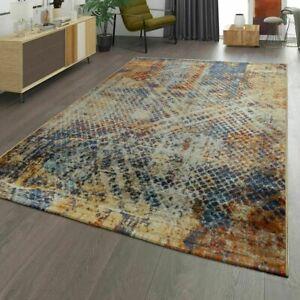 Détails sur Salon Moderne Tapis Shabby effet Abstract industriel Multi doux  tapis de sol- afficher le titre d\'origine