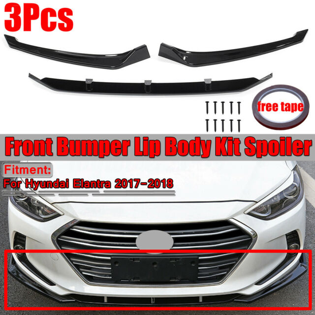 For Hyundai Elantra 2017 2018 Front Bumper Lip Cover Body Kit Trim Gloss