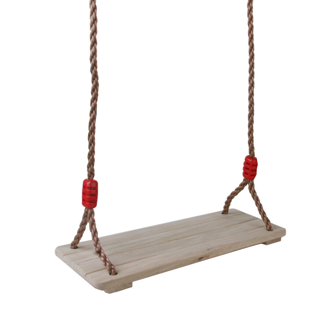 Brich Wooden Home Outdoor Swing Seat w Rope Rope Rope Kids Garden Swing Playing Toys 3cc2ec