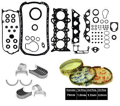 Pistons and Rings Fits 01-05 Honda Civic EX HX 1.7L SOHC 16v D17A2 D17A6