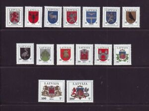 Latvia-Sc-363-77A-1994-Coats-of-Arms-stamp-set-mint-NH-Free-Shipping