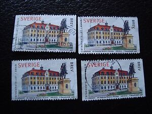 SUEDE-timbre-yvert-et-tellier-n-2025-x4-obl-A29-stamp-sweden-Z