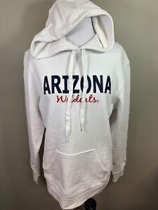 NWT Arizona Wildcats White Red Blue Hoodie Hooded Sweatshirt Medium