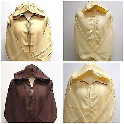 Size 54 100/% cotton Men  Moroccan hooded thobe//djelleba.jubba.thobes.2018