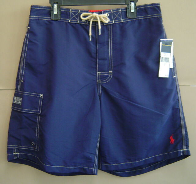 3950b2f92f NWT $65 POLO RALPH LAUREN Mens S KAILUA SWIM TRUNK BOARDSHORT Navy Red
