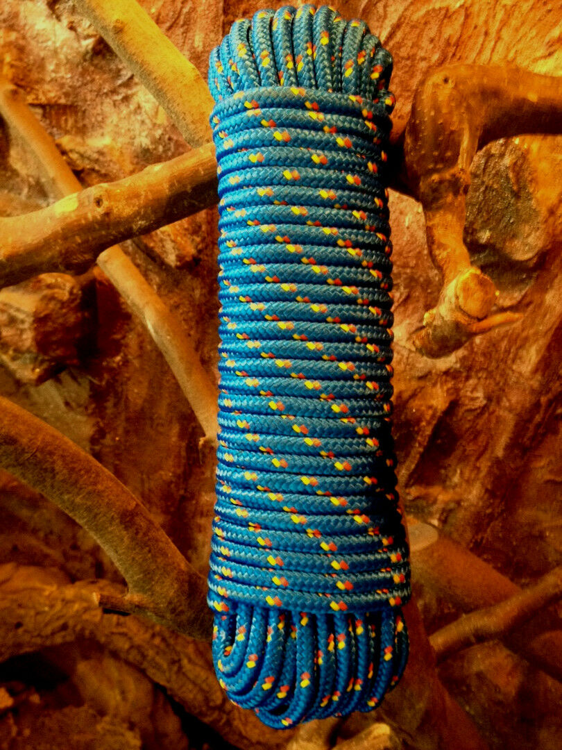 Mehrzweckseil,Tau Blaues PP-Seil 4-16 mm,Festmacher,Allzweckseil,Segeltauwerk