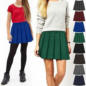 5fefe86476 Image is loading GIRLS-KIDS-SCHOOL-UNIFORM-BOX-PLEATED-ELASTICATED-WAIST-