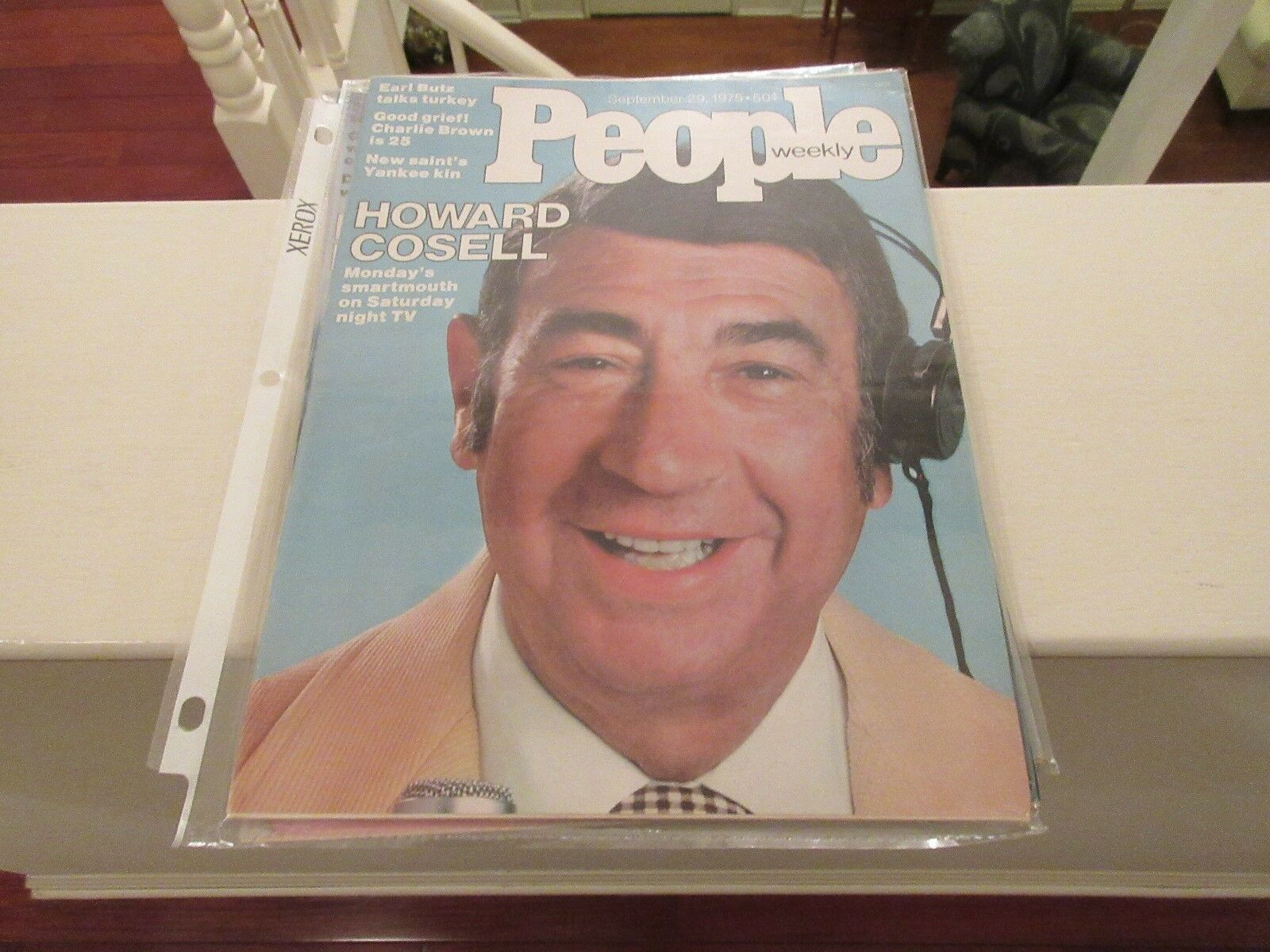 HOWARD COSELL , People Magazine , 9/29/1975 , Charlie B