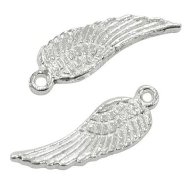 Angel Wing Pendant Charms 50 100 200 Tibetan Silver Gold Silver Bronze