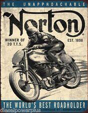 Vintage Replica Tin Metal Sign poster Norton Motorcycle bike honda Harley 1706