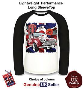 Classic-Mini-Cooper-Shirt-Long-Sleeve-Classic-Mini-Cooper-T-Shirt-Men-039-s-Top