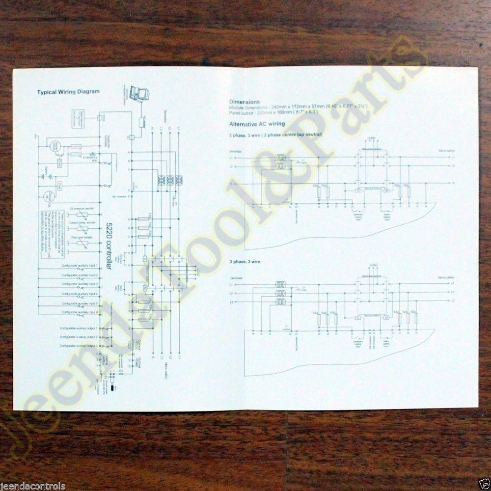 Dse5220 Deep Sea Generator Controller Automatic Mains Failure Pb30 Wiring Diagram Control Module Ebay