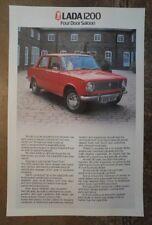 LADA 1200 SALOON orig 1979 UK Mkt Sales Leaflet Brochure