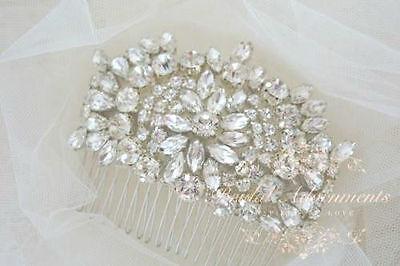 Vintage Style Bridal Weddindg Crystal Hair comb/Hair piece