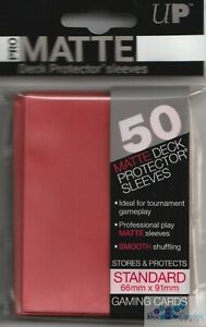 ULTRA-PRO-PRO-MATTE-RED-DECK-PROTECTORS-CARD-SLEEVES-FOR-MTG-WoW-POKEMON-CARDS