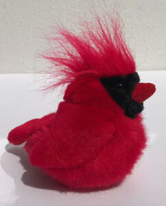Red Cardinal Bird Soft Stuffed Plush Singing Sound Animal Toy K M
