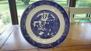 """Blue Willow Chop Plate Royal Ware Willow ware 12 """" Chop Plate Excellent conditio"""